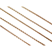 """Vintage 14k Gold Wheat Link Chain ~ 18 1/2"""" ~ 5.0 Grams"""