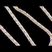 "Vintage 14k Gold Byzantine Chain ~ 18"" ~ 8.5 Grams"