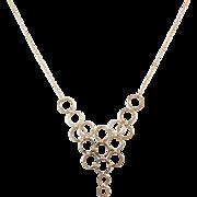 "Vintage 14k Gold Circle Necklace ~ 17"""