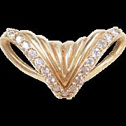 Vintage 10k Gold Faux Diamond Slide Pendant