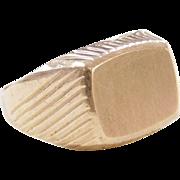Vintage 10k Gold Men's Signet Ring