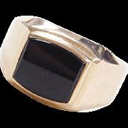 Vintage 10k Gold Men's Onyx Ring