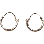 Vintage 14k Gold Small Endless Hoop Earrings
