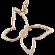 Vintage 14k Gold Butterfly Charm / Pendant