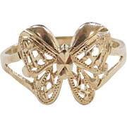 Vintage 14k Gold Butterfly Ring