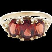Vintage 10k Gold Garnet Ring