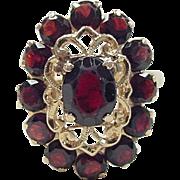 Vintage 14k Gold Garnet Ring