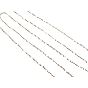 "Vintage 14k Gold Thin Chain ~ 18 1/2"" ~ 0.7 Grams"