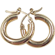 Vintage 14k Gold Small Hoop Earrings
