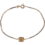 """Vintage 14k Gold Citrine Bracelet ~ 6"""""""