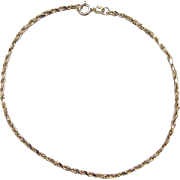 Vintage 14k Gold Diamond Cut Rope Bracelet ~ 7 1/4""