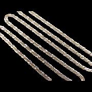 "Vintage 14k Gold Figaro Link Chain ~ 18"" ~ 1.9 Grams"
