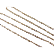 "Vintage 14k Gold Diamond Cut Rope Chain ~ 18 1/2"" ~ 1.8 Grams"