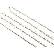 "Vintage 14k Gold Thin Curb Link Chain ~ 15 1/4"" ~ 1.7 Grams"