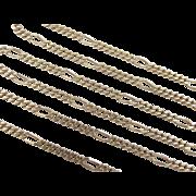 "Vintage 18k Gold Figaro Link Chain ~ 21"" ~ 10.6 Grams"