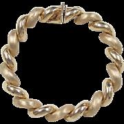 """Vintage 14k Gold San Marco Bracelet ~ 7"""""""