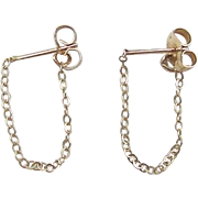 Vintage 14k Gold Cable Hoop Earrings