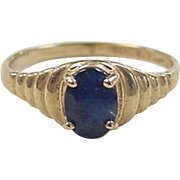 Vintage 14k Gold Sapphire Ring