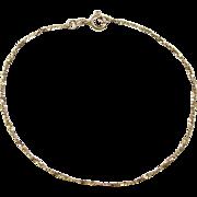 """Vintage 18k Gold Twisted Bracelet ~ 8"""""""