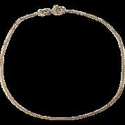 "Vintage 18k Gold Box Bracelet ~ 8"""