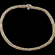 """Vintage 14k Gold Figaro Link Bracelet ~ 8"""""""
