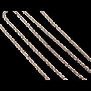 "Vintage 14k Gold Loose Rope Chain ~ 19"" ~ 2.5 Grams"