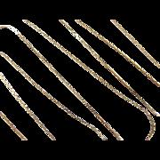 "Vintage 14k Gold LONG Chain ~ 30"" ~ 2.8 Grams"