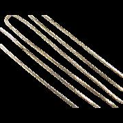"""Vintage 14k Gold Long Box Chain ~ 24"""" ~ 2.3 Grams"""
