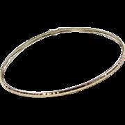 """Vintage 10k Gold Bangle Bracelet ~ 7 7/8"""""""
