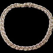 """Vintage 10k Gold Flat Marine Anchor Link Bracelet ~ 8"""""""