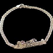 """Vintage 10k Gold Tri-Color BEST FRIEND Bracelet ~ 7 1/4"""""""