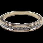 Vintage 10k Gold Two-Tone Diamond Band Ring