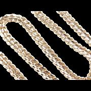 "Vintage 14k Gold Curb Link Chain ~ 21 1/4"" ~ 40.1 Grams"