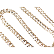 "Vintage 14k Gold Curb Link Chain ~ 21 1/4"" ~ 40.1 Grams"