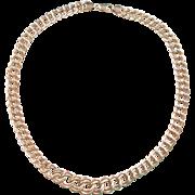 "Vintage 14k Gold Double Link Graduated Necklace 18"" ~ 17.4 Grams"