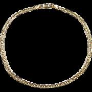 """Vintage 14k Gold Marine Anchor Link Anklet 9 1/2"""""""