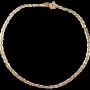 """Vintage 14k Gold Marine Link Anklet 9 1/4"""""""