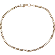 """Vintage 14k Gold Curb Link Bracelet ~ 8 1/2"""""""
