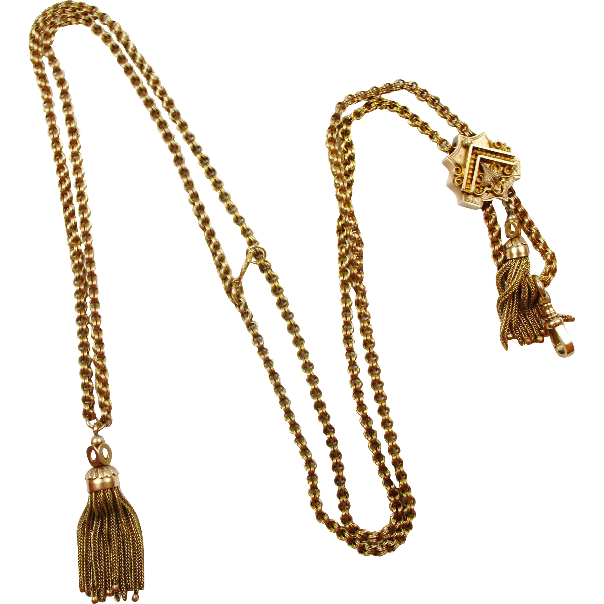 victorian 14k gold chain necklace w
