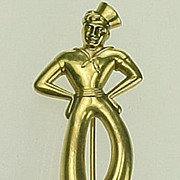 Vintage 1930/40's Forstner 10k Gold Dancing Sailor Brooch