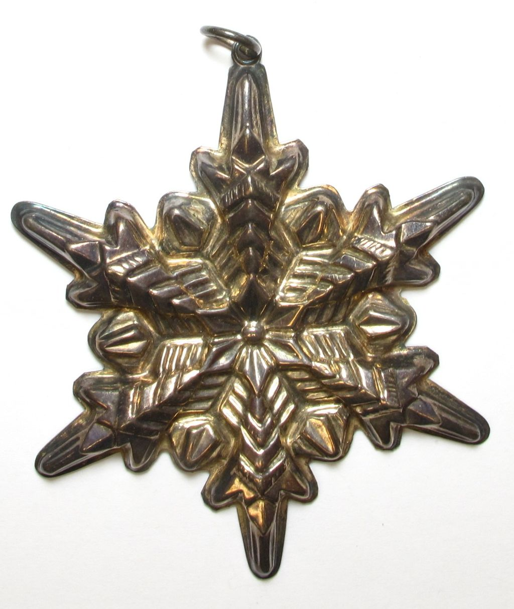 sold by phone Vintage Sterling Silver Gorham Snowflake Pendant / Ornament.