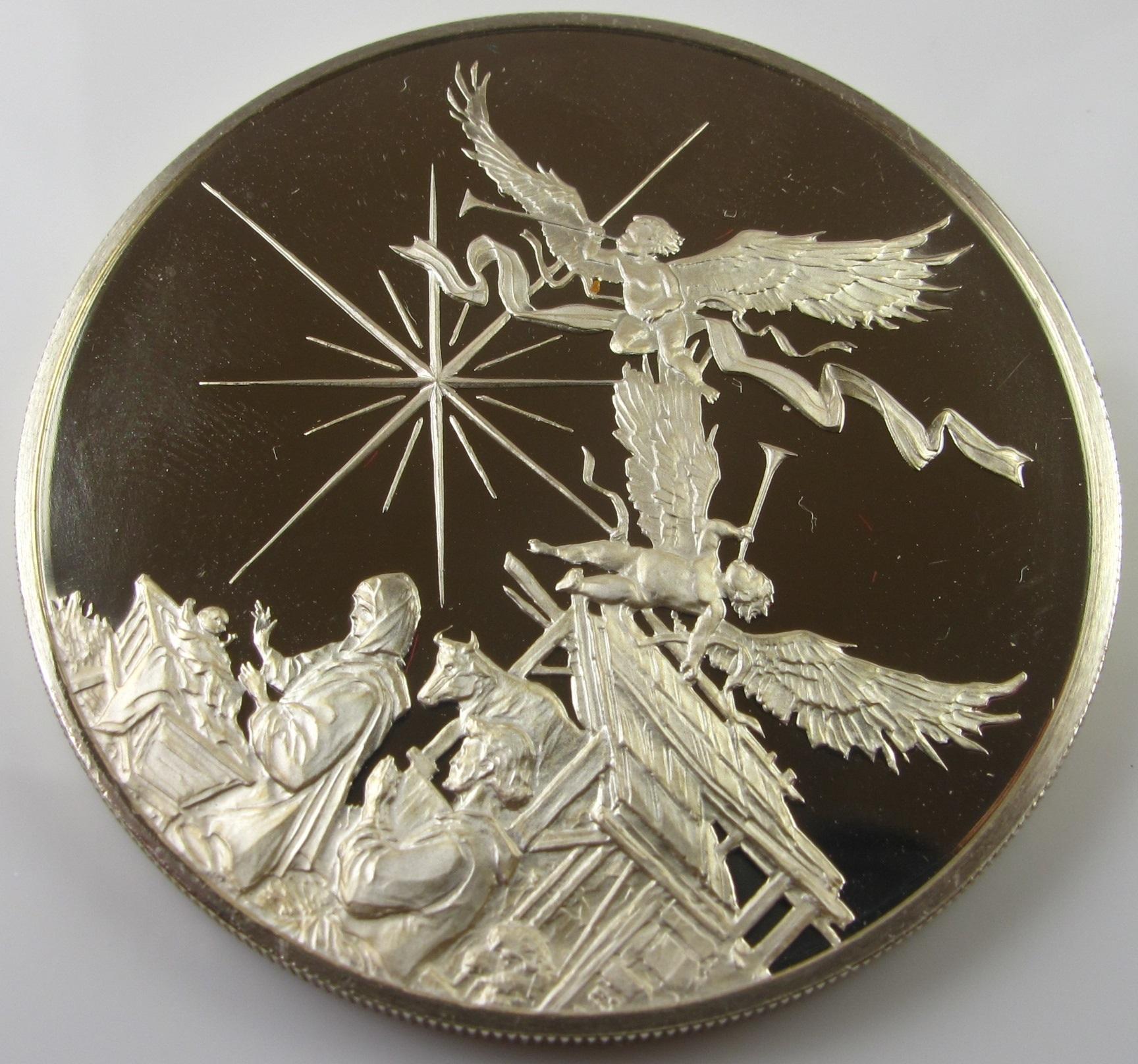 Vintage 1972 Sterling Silver Round Bullion - Birth of Christ