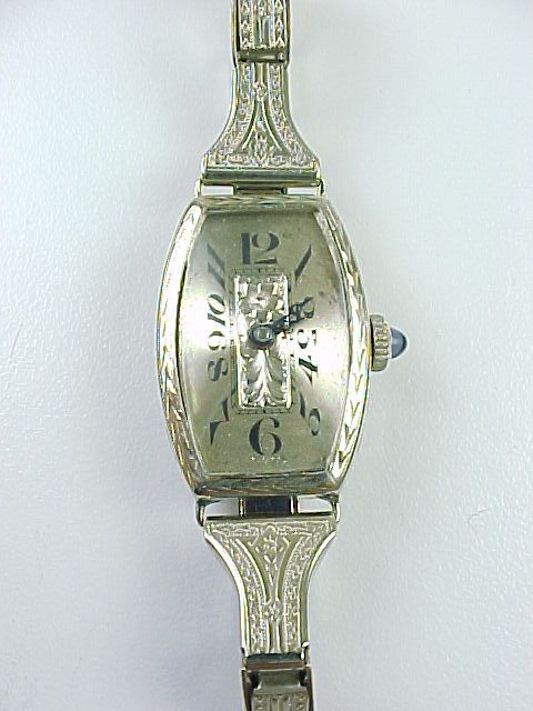 Art Deco Ladies Watch 14k White Gold