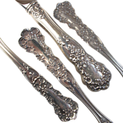 "Estate Sterling Silver Gorham ""Buttercup"" 4 Piece Set - Service for 8 - No Mono"