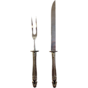 "Estate Sterling Silver Carving Set - Gorham ""Hispana-Sovereign"""