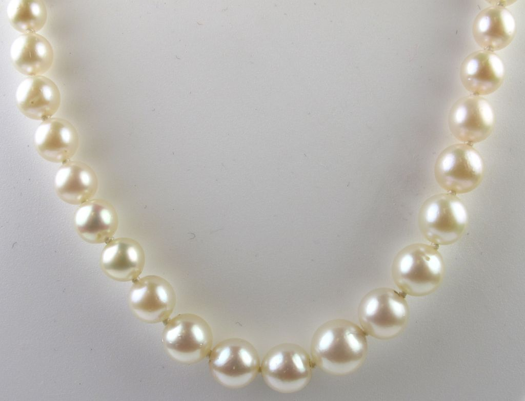 multi copy condition five diamond as jewelry necklaces gold strand pearl l j id white at sale for choker new in pearls mikimoto necklace
