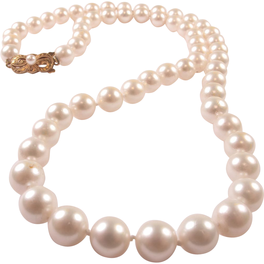 vintage mikimoto cultured pearl strand 8 mm matinee length. Black Bedroom Furniture Sets. Home Design Ideas