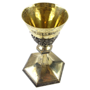 Antique Schofield Co.  Gold Washed Sterling Silver Floral Chalice