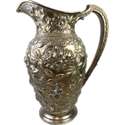 S. Kirk & Son Sterling Silver Pitcher - Pattern 184  Repousse