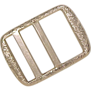 Victorian 10k Gold Belt Buckle Ornate Engraved